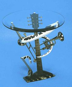 I really like this table. It's really cool and incorporates 4 instruments and a musical note.