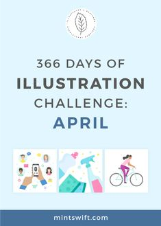 366 Days of Illustration Challenge - April by MintSwift. The fourth month (April) of illustration challenge (day 30 vector flat illustrations Flat Design Illustration, Digital Illustration, Vector Illustrations, Dustpans And Brushes, Brand Icon, Web Design Packages, Business Checks, Happy Earth, Easter Colors