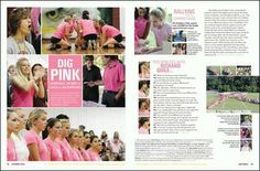 yearbook spread- left side looks almost like a magazine...