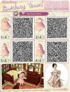 Animal crossing new leaf Tea Dance Rose dress qr code Animal Crossing Qr Codes Clothes, Animal Crossing Game, Animal Games, My Animal, Classic Bookshelves, Film Manga, Motif Acnl, Ac New Leaf, Kawaii