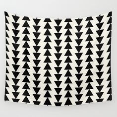 BLACK & WHITE ARROWS Wall Tapestry by Allyson Johnson - $39.00