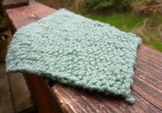 Washcloth from Redshirt Knitting.