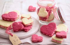 d1762b2525e Say 'I love you' with these cute heart-shaped sandwich cookies, filled