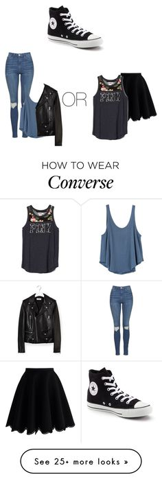 """Contest 2: How to wear Converse"" by heart-princess79 on Polyvore featuring Topshop, RVCA, Yves Saint Laurent, Chicwish and Converse"