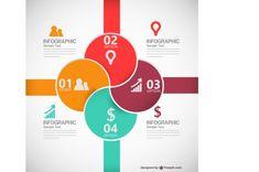Fresh Vector Infographics: 4 way
