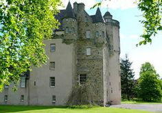 Castle Fraser, the most elaborate Z-plan castle in Scotland, was built between 1575 and 1636 by the 6th laird, Michael Fraser. One of the towers is seven stories high. The castle contains many Fraser family portraits, including one by Raeburn, and fine 18th and 19th century carpets, curtains and bed hangings. One of its most evocative rooms is the strikingly simple Great Hall. Hidden trapdoors reveal secret stairs and a spy hole. The 350 acre estate includes a walled garden.