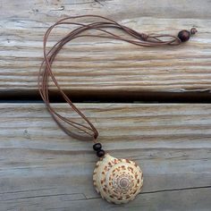 "Seashell Necklace by Rum Cay Island Jewelry 10% off with coupon code ""pinterest"""