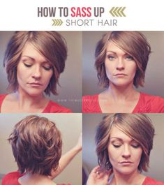 how to sass up short hair / #short #hairstyle #tutorial
