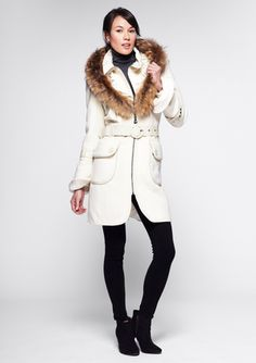 Discover and save on of great deals at nearby restaurants, spas, things to do, shopping, travel and more. Wool Coat, Fur Coat, Fur Trim, Designer Collection, Winter Jackets, Style Inspiration, Elegant, My Style, Gemstone