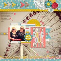 "great idea of using a large ""landscape"" photo as background paper - #papercraft #scrapbook #layout Hawt Inspiration   Warping Shadows by Jaimie"