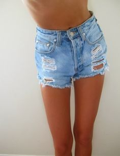 Denim shorts I have five pairs and still need more!!! The more ragged and tattered the better