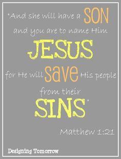 14/03/2014- I am grateful for the bible verse Matthew 1:21