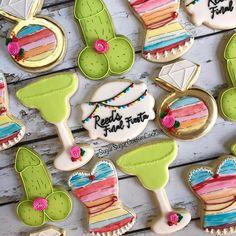 """Sugar Cookies on Instagram: """"🌵💍Final Fiesta!🌵💍 . . . #finalfiesta #finalfiestacookies #bachloretteparty #bachloretteweekend #bachlorettecookies #fiestatheme #cactus…"""" Bachelorette Party Themes, Bachlorette Party, Sugar Cookies, Cactus, Desserts, Instagram, Fiestas, Tailgate Desserts, Deserts"""