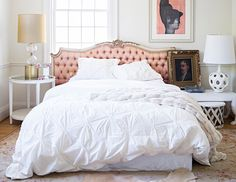 images from a 6,000-square-foot modern home makeover on domino.com. Always loved pure white comforters