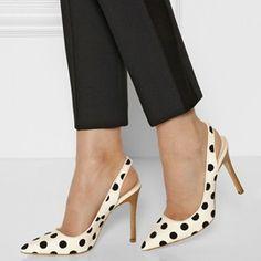 Ericdress Polka Dots Point Toe Stiletto Sandals
