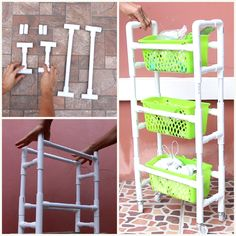 Pvc Pipe Crafts, Pvc Pipe Projects, Diy Pipe, Diy Crafts For Home Decor, Diy Crafts Hacks, Diy Home Projects Easy, Pvc Pipe Furniture, Furniture Storage, Cool Diy