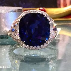 Anyone in the mood for a #sapphire and #diamond ring? #preciousgems #ringoftheday #jewelry #jewelrylover #somethingblue #love #ring #style #statementrings #Cleveland #AlsonJewelers