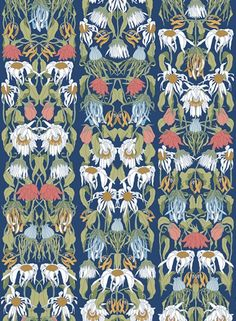 Withered Flowers - Colours (JOB-07), a feature wallpaper from Studio Job, featured in the Archives collection.