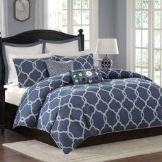 Harbor House™ Freya Reversible Comforter Set in Blue - BedBathandBeyond.com