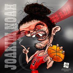 Caricature of #Joakim #Noah, #Chicago #Bulls #13 NBA by #Deviantom
