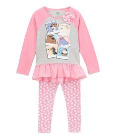 Pink Ruffle Long-Sleeve Tee & Pants - Toddler & Kids by Children's Apparel Network #zulily #zulilyfinds