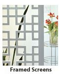 Framed Screens & Funky Lattice from latticestix.com  I want to make a handrail for my stairs out of this!
