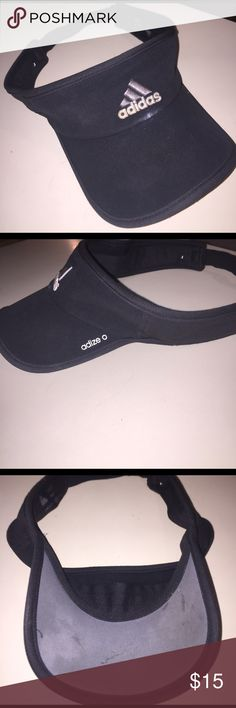 Adidas visor Black Adidas visor  with minor scuffs fits any size Adidas Accessories Hats