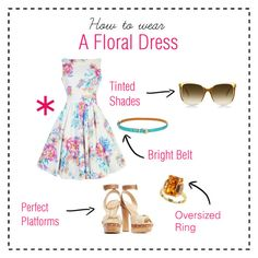 """How to Wear a Floral Dress"" by horse-dance-princess on Polyvore featuring Schutz and Effy Jewelry"