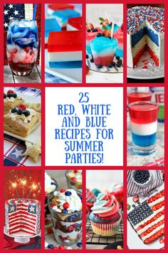 Christmas Recipes Dinner Main Courses, Holiday Recipes, Holiday Foods, Holiday Ideas, Fun Easy Recipes, Summer Recipes, Patriotic Party, Most Pinned Recipes, July Holidays