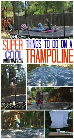 Build a movie theater and other cool things to do on a trampoline!