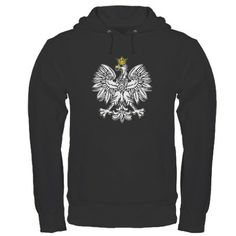 Polish Eagle With Gold Crown Hoodie (dark)
