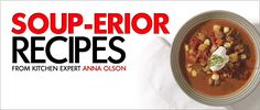 Home Hardware - Anna's Soup-erior Recipes Anna Olson, Meal Ideas, Allergies, Dairy Free, Soups, Oatmeal, Hardware, Healthy Recipes, Meals