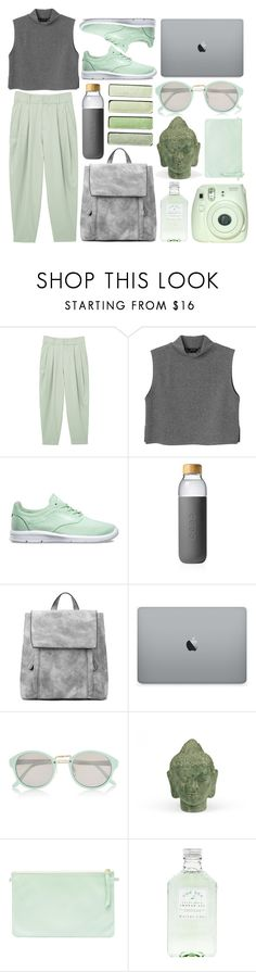 """9R€€N"" by rheeee ❤ liked on Polyvore featuring MANGO, Monki, Vans, Soma, River Island and Puji"