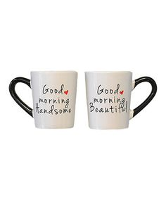 Another great find on #zulily! 'Good Morning' Mug - Set of Two #zulilyfinds