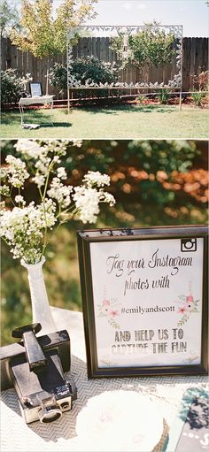 Instagram photo booth idea. Captured By: Stephanie Hunter Photography http://www.weddingchicks.com/2014/06/11/a-couple-shower-bursting-with-wc-free-printables/