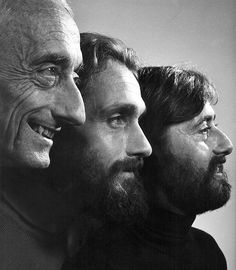 Jacques Cousteau and sons