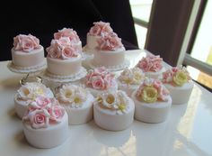 Miniature cakes by goddess of chocolate, via Flickr