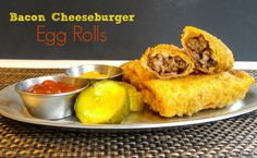 Want a new take on egg rolls? Try these Bacon Cheeseburger Egg Rolls and have a new flavor inspiration!