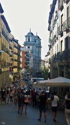 Calle Toledo Madrid desde la Plaza Mayor