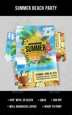 Summer Beach Party Flyer Template PSD. Download here: http://graphicriver.net/item/summer-beach-party/15312348?ref=ksioks