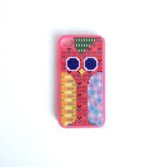 Owl Cross Stitch iPhone Case
