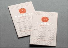 Hermosa business card design: