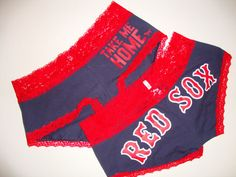Victorias Secret Panty Love Pink Boston Red Sox Lace Take Me Home M Baseball