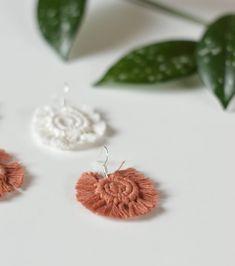 Macrame Earrings, Stud Earrings, Knots, Place Card Holders, Photo And Video, Instagram, Stud Earring, Earring Studs, Buttons