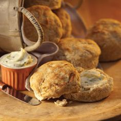 Country-Style Buttermilk Biscuits, a recipe from the ATCO Blue Flame Kitchen. Homemade Biscuits, Buttermilk Biscuits, No Bake Desserts, Dessert Recipes, Jalapeno Jelly, Canadian Thanksgiving, Pastry Blender, Bread Rolls, Quick Bread