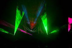 Extraschicht 2014.Die Nacht der Industriekultur.Lasershow im Amphitheater Gelsenkirchen