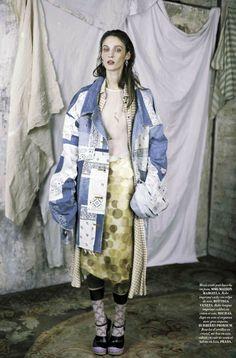 "Duchess Dior: ""Silk Doll"" Franzi Mueller by Fanny Latour-Lambert for L'Official France March 2015"