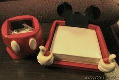 Disney vintage mickey mouse office desk top memo paper by MrMagoos, $15.00