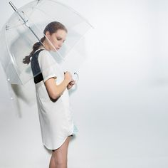 Organic Bamboo & Cotton Softly Draped Dress /Contrasting Silk Gauze detail…