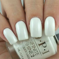 OPI Infinite Shine Pearl Of Wisdom swatched by Olivia Jade Nails